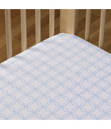 Living Textiles Cotton Poplin Fitted Sheet Blue Links