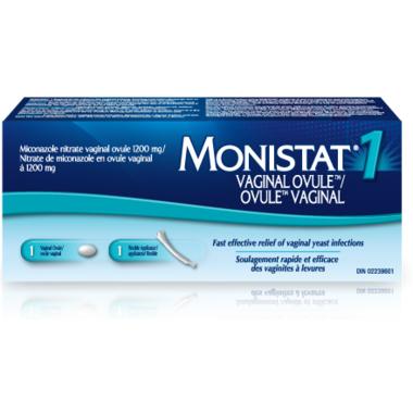 MONISTAT 1 Vaginal Ovule