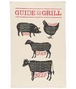 Now Designs Grill Guide Print Tea Towel