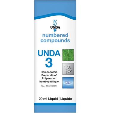 UNDA Numbered Compounds UNDA 3 Homeopathic Preparation