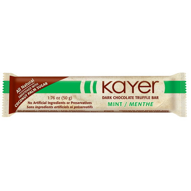 Kayer Dark Chocolate Mint Truffle Bar