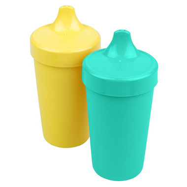 Re-Play Spill Proof Cups Aqua and Sunny Yellow