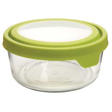 Anchor TrueSeal 7 Cup Round Storage Container with Green Lid