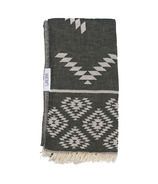 Lualoha Turkish Towel Luxury Tribe Black