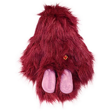 Hugglehounds Toy with Sole Small Purple Dog Toy