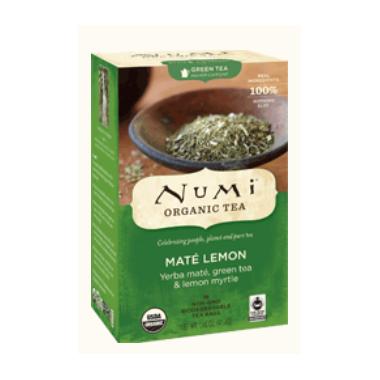 Numi Organic Mate Lemon Green Tea