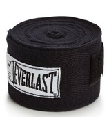 Everlast 108 In. Black Hand Wraps