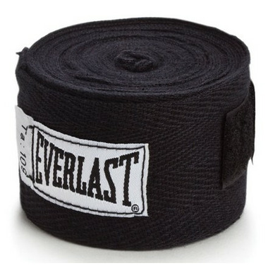 Everlast 108 In. Black Hand Wraps