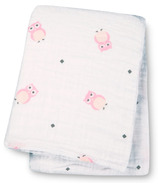 Lulujo Baby Muslin Cotton Security Blankets Pink Owls