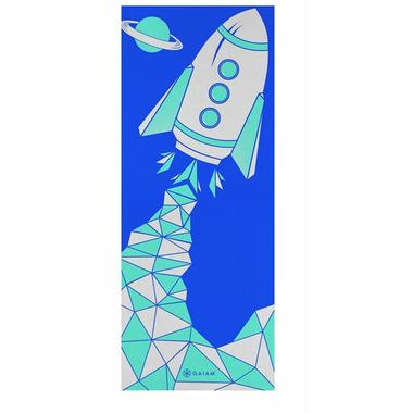 Gaiam Kids Printed Yoga Mat Blue Rocket