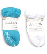 Juddlies Infant Socks Scuba Blue & White