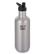 Klean Kanteen Classic Water Bottle with Sport Cap Brushed Stainless