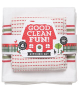 Now Designs Good Clean Fun Kitchen Linens Set Chili