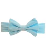 Baby Wisp Big Bow Headband Blue
