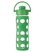 Lifefactory Glass Bottle Green Flip Cap & Silicone Sleeve