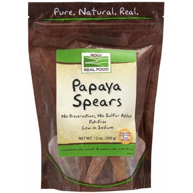 NOW Real Food Papaya Spears