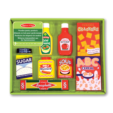 Melissa & Doug Wooden Play Food Pantry Products