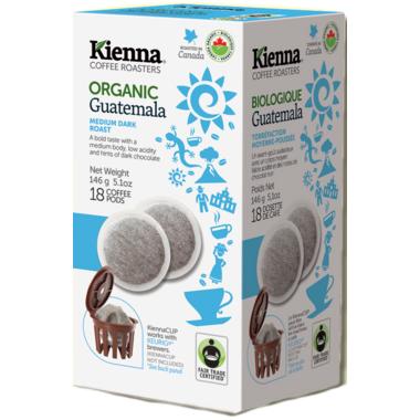 Kienna Coffee Roasters Guatemala Coffee Pods