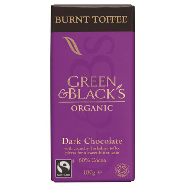 Green & Black\'s Organic Burnt Toffee Dark Chocolate