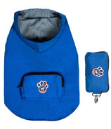 Canada Pooch Pacific Poncho in Blue Sized 10-20