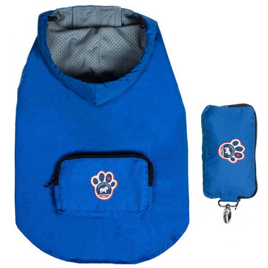 Canada Pooch Pacific Poncho in Blue Sizes 22-24