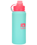 Nathan Sports Flexshot Silicone Water Bottle Blue Light