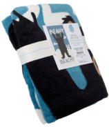 Little Blue House Blue Beary Beachy Kids Towel