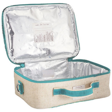 SoYoung Raw Linen Olive Fox Lunch Box