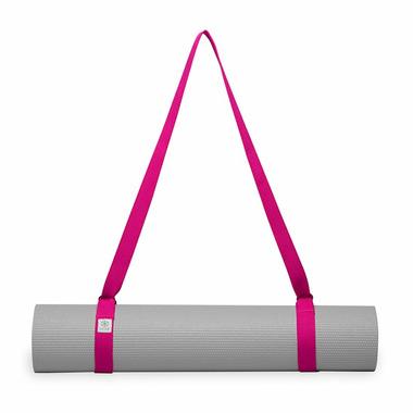Gaiam Easy Cinch Yoga Mat Sling Fuschia