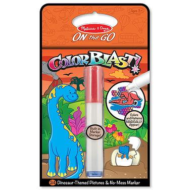 Melissa & Doug Color Blast! Dinosaurs Book On-The-Go