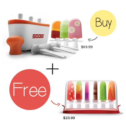 Zoku Quick Pop Maker with a FREE Zoku Storage Case