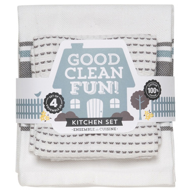 Now Designs Good Clean Fun Charcoal Kitchen Set