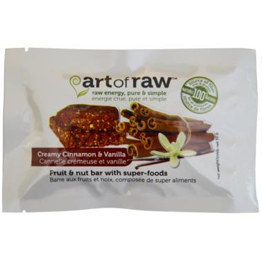 Art of Raw Cinnamon Vanilla Brownie Raw Bar