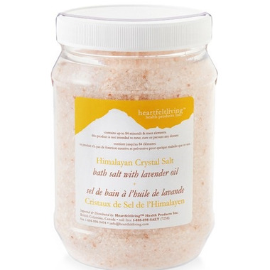 Heartfelt Living Himalayan Crystal Bath Salts Lavender