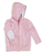 aden + anais Long Sleeve Jersey Hoodie Lovely Pink