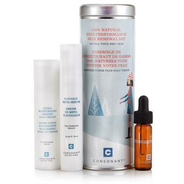 Consonant Skincare 100% Natural Skin Renewal Set