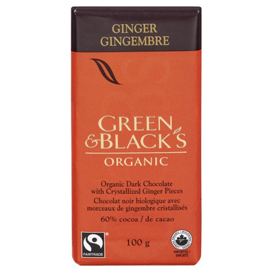 Green & Black\'s Organic Dark Chocolate Ginger Bar