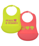 Chewbeads Silicone Bibs Peace, Heart & Veggie