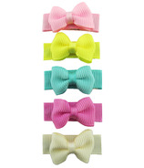 Baby Wisp Small Snap Grosgrain Tuxedo Bow Clips