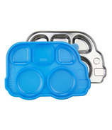 Innobaby Din Smart Stainless Platter with Blue Lid