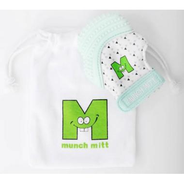 Munch Mitt Teething Mitten Mint Green