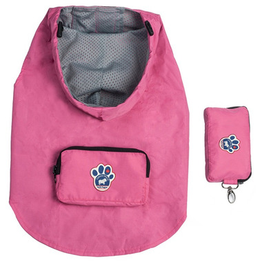 Canada Pooch Pacific Poncho in Pink Sizes 22-24