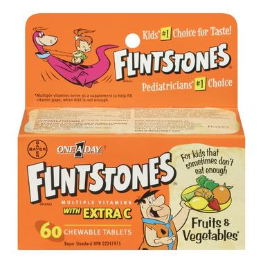 Flintstones Chewable Multiple Vitamins With Extra Vitamin C