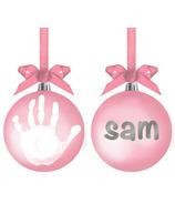 Pearhead Babyprints Pink Ball Ornament