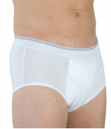 Wearever Moderate Absorbency White Cotton Briefs