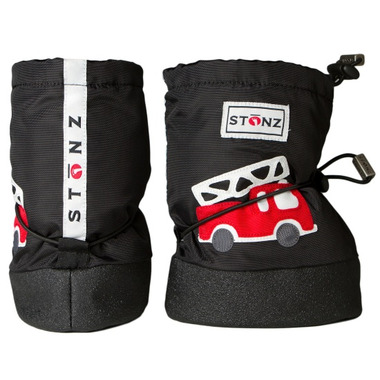 Stonz Black Fire Truck Infant Booties