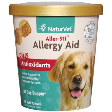 Naturvet Aller-911 Allergy Aid Plus Antioxidants Soft Chews