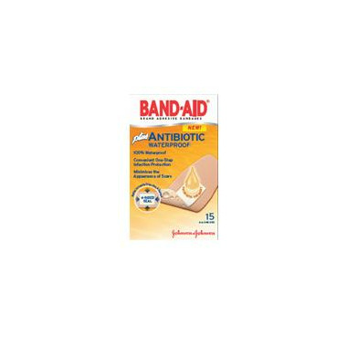 Band-Aid Antibiotic Waterproof Bandage