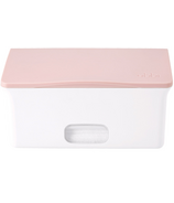 Ubbi Wipes Dispenser White & Light Pink
