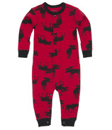 Hatley Baby Union Suit Moose on Red